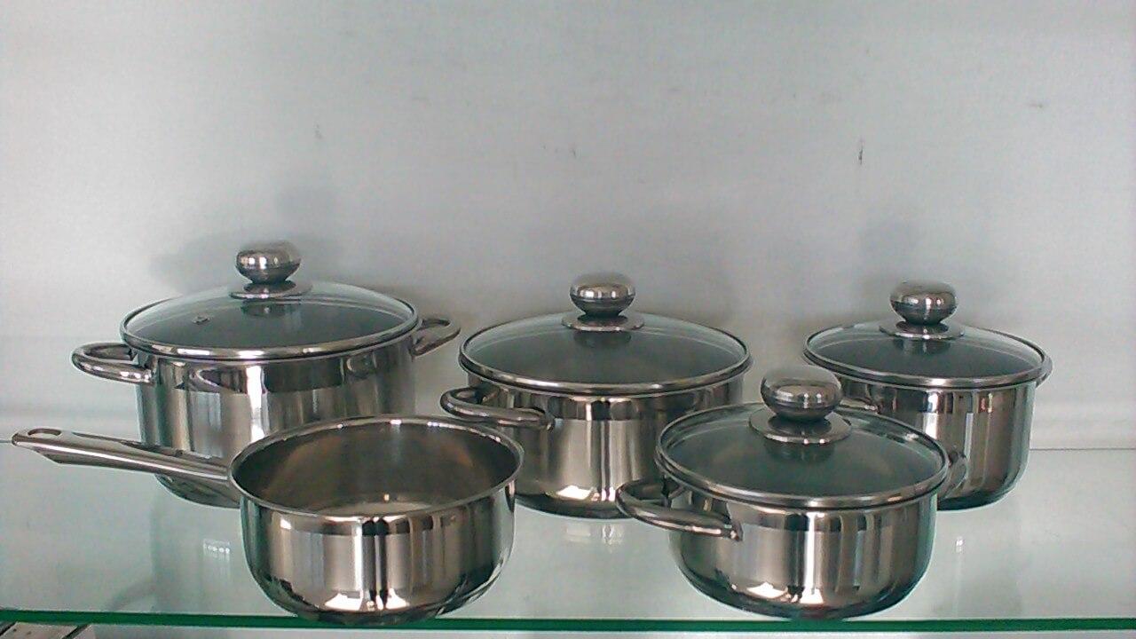 Maggy cristal batterie de cuisine inox gsw for Batterie de cuisine inox