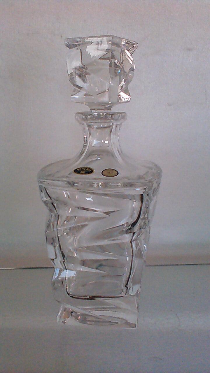 Carafe ZIG ZAG en cristal de Bohème