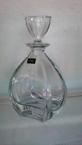 """Carafe """" Laguna"""" en cristallin de Bohème"""
